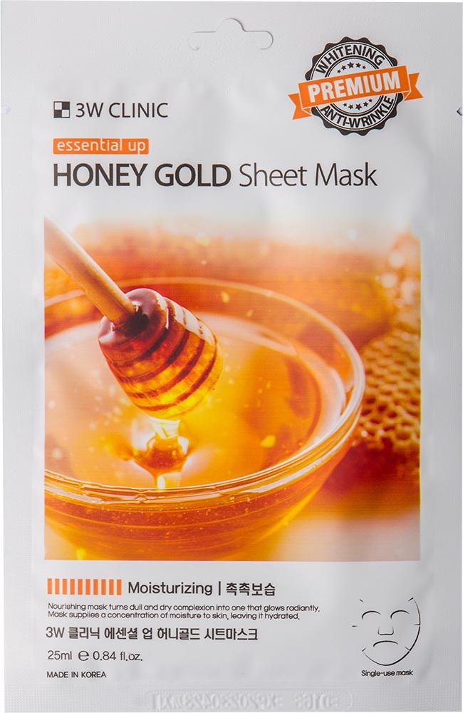 Маска для лица - Essential Up Honey Gold Sheet Mask [3W Clinic]