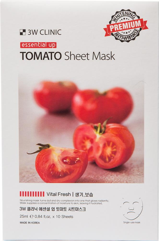 Маска для лица - Essential Up Tomato Sheet Mask [3W Clinic]