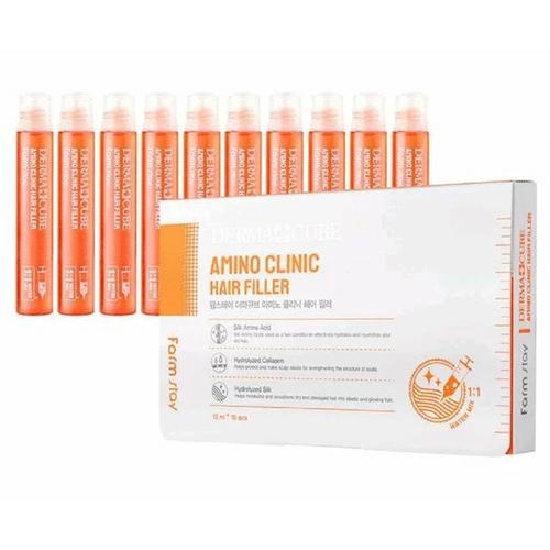 Филлер для волос с аминокислотами - Derma сube amino clinic hair filler, 13мл. FarmStay