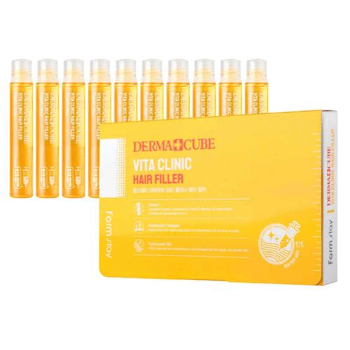 Филлер для волос с витаминами - Derma сube vita clinic hair filler, 13мл. FarmStay