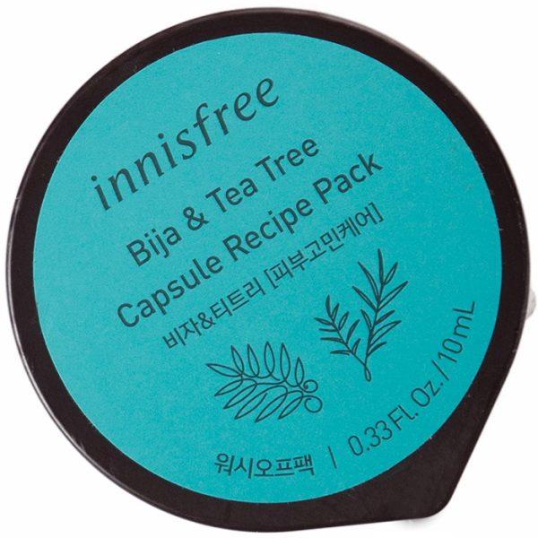 Маска с глиной  острова Чеджу и чайным деревом Инисфри - INNISFREE Capsule recipe pack bija and teat
