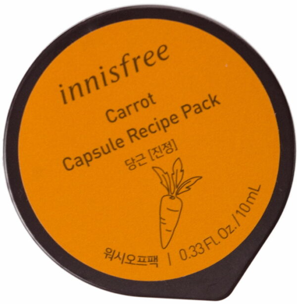 Капсульная смываемая маска для лица с экстрактом моркови - Innisfree Capsule Pack  Carrot