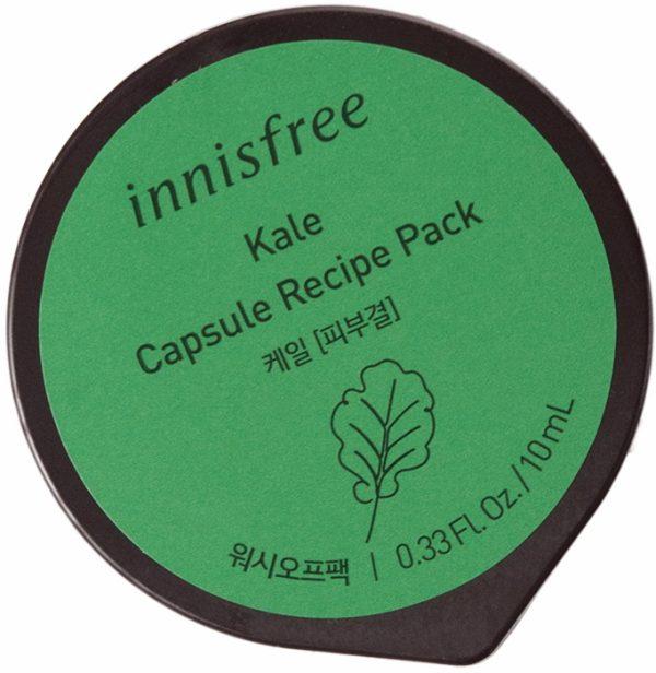 Капсульная смываемая маска для лица с экстрактом кудрявой капусты кейла - Innisfree Capsule Pack #Ke