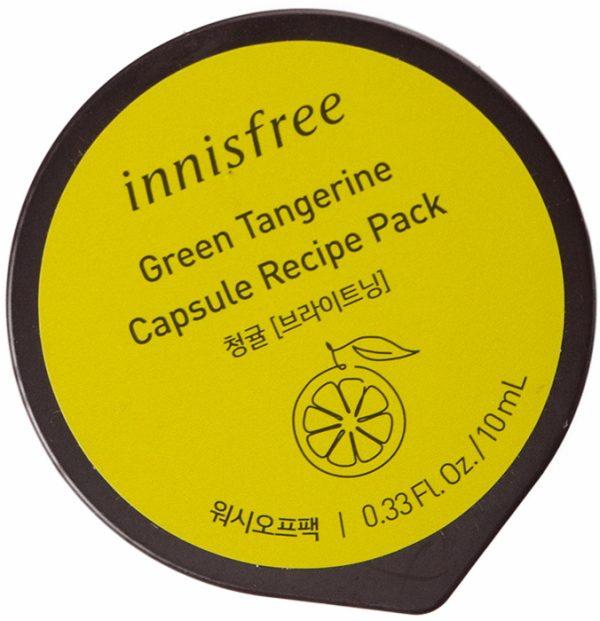 Капсульная смываемая маска для лица с экстрактом зелёного мандарина -Capsule Pack #Green Tangerine