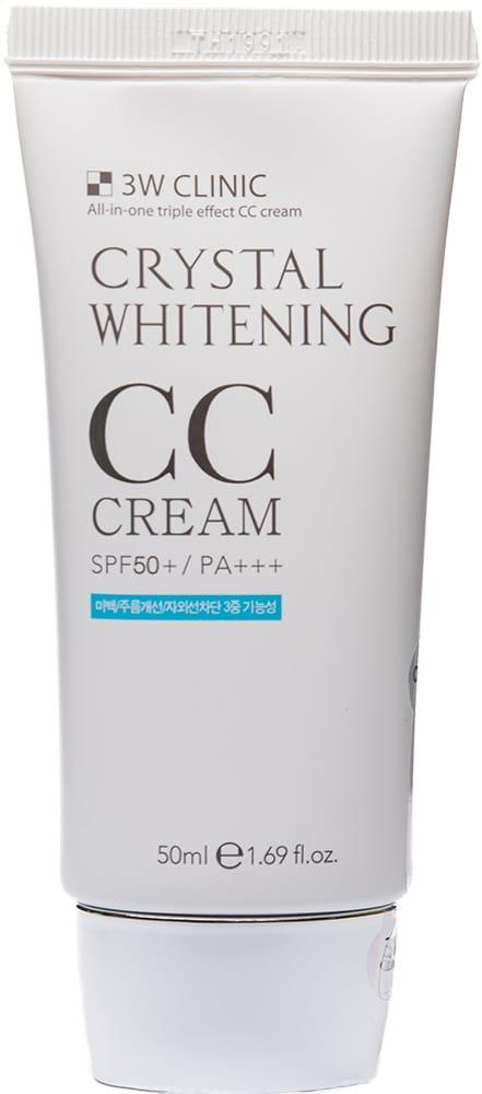 Крем для кожи лица - Crystal Whitening CC Cream (#1)  [3W Clinic]