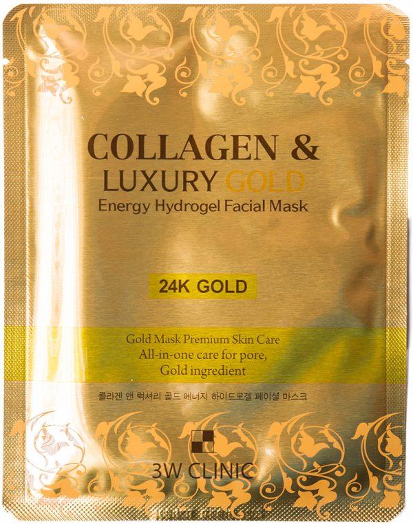 Гидрогелевая маска для лица - COLLAGEN & LUXURY GOLD Energy Hydrogel facial Mask [3W Clinic]