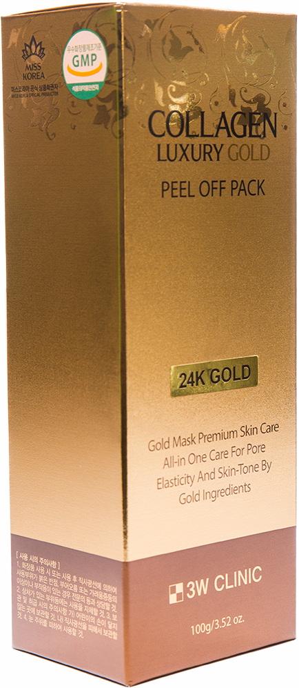 Маска для лица - COLLAGEN LUXURY GOLDPEEL OFF PACK [3W Clinic]