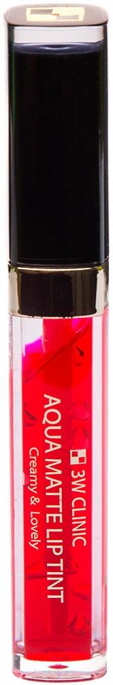 Помада для губ - Aqua Matte Lip Tint #Cutie Pink [3W Clinic]
