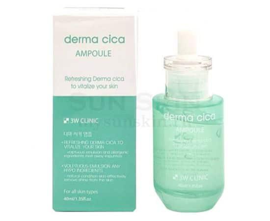 Успокаивающая ампула для лица - derma cica AMPOULE [3W Clinic]