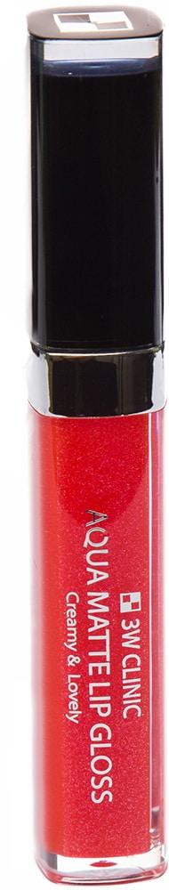 Блеск для губ - Aqua Matte Lip gloss #Siren Rose [3W Clinic]