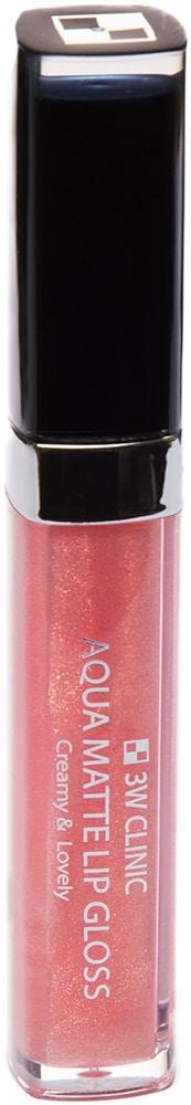 Блеск для губ - Aqua Matte Lip gloss #Girls Pearl Pink [3W Clinic]