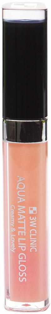 Блеск для губ - Aqua Matte Lip gloss #Bikini Pink [3W Clinic]