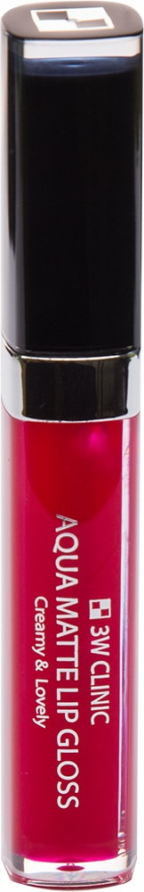 Блеск для губ - Aqua Matte Lip gloss #Scarlet Wine [3W Clinic]
