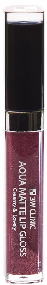 Блеск для губ - Aqua Matte Lip gloss #Rudy Purple [3W Clinic]
