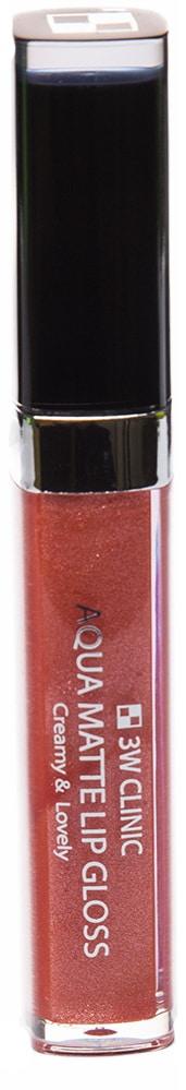 Блеск для губ - Aqua Matte Lip gloss #Electric Orange [3W Clinic]