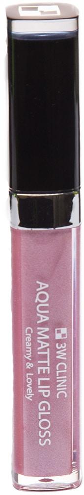 Блеск для губ - Aqua Matte Lip gloss #Darling Pink [3W Clinic]