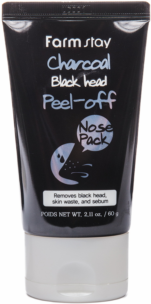 Маска-плёнка для очищения кожи носа от чёрных точек Фармстей - FARMSTAY Charcoal Black Head Peel-off