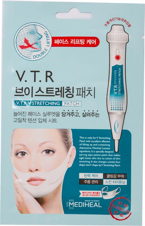 Маска для V-зоны лица с эффектом лифтинга 4 шт. Медихил — Mediheal V.T.R V Stretching Patch 4 pieces