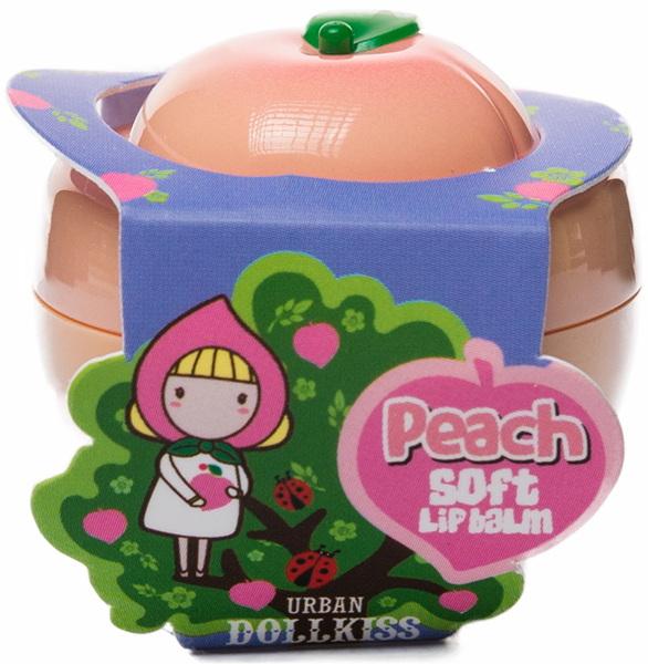 Бальзам для губ персиковый Бавифат — BAVIPHAT  Urban Dollkiss Peach Soft Lip Balm