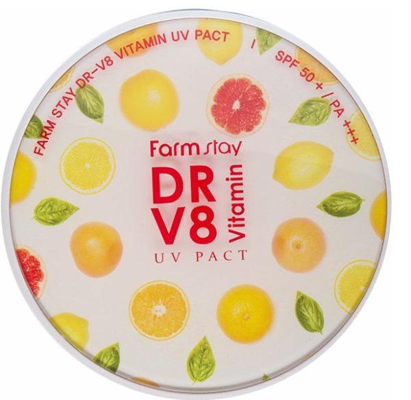 Компактная пудра с витаминами Pack SPF50+  #23 Фармстей - FARMSTAY DR.V8 Vitamin UV Pack SPF 50+ PA+