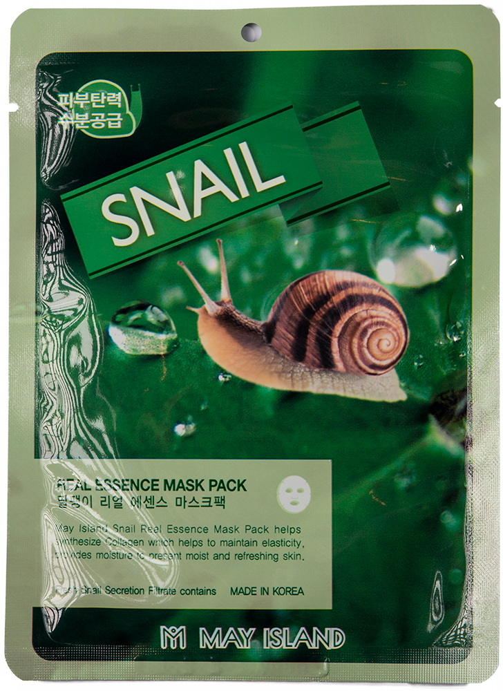 Real Essence Snail Mask Pack – увлажняющая маска с улиточным муцином,