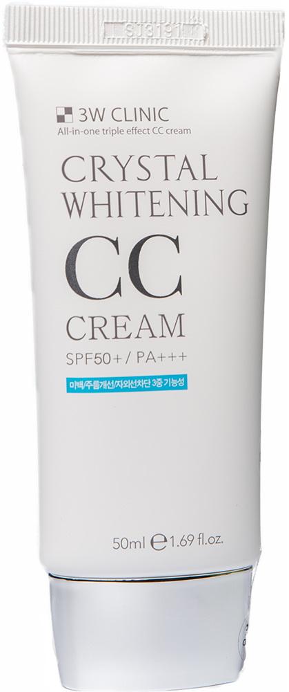 Крем для кожи лица - Crystal Whitening CC Cream  [3W Clinic]